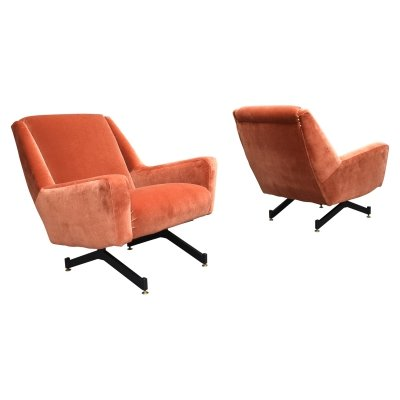 Pair of Italian lounge chairs, 1960s