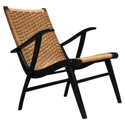 Lounge chair in papercord by Vroom & Dreesman, Netherlands 1957