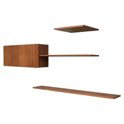 Floating wall-system in teak by Banz Bord, Germany 1960-70's