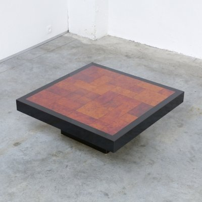 Square Geometric Coffee Table, 1970s