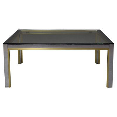 Romeo Rega Square Coffee Table, Italy 1970's