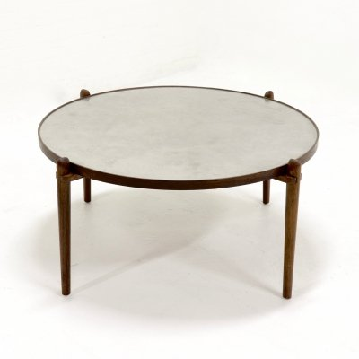 Etched Circular Coffee Table by Heinz Lilienthal, 1960s