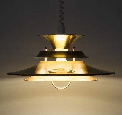 Danish Extendable pendant lamp by Vitrika, 1970s