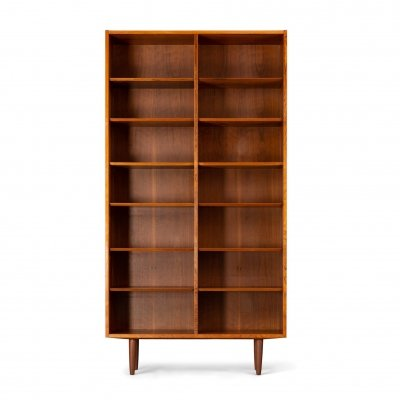 Danish rosewood high bookcase by Carlo Jensen for Hundevad & Co, 1960s