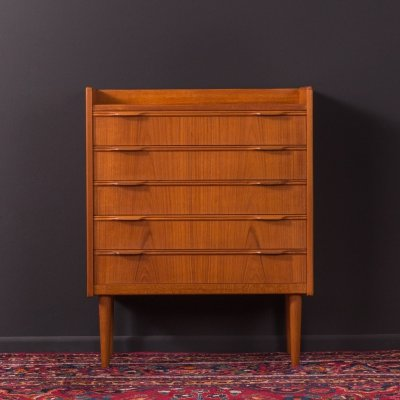 Teak chest of drawers from the 1960s