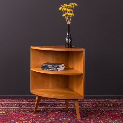 Walnut corner shelf, Germany 1950s