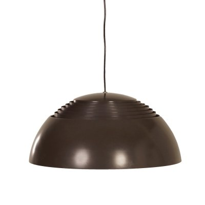 Brown AJ Hanging Lamp by Arne Jacobsen for Louis Poulsen, 1970s