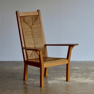 Worpsweder high back armchair by Willi Ohler, 1920s