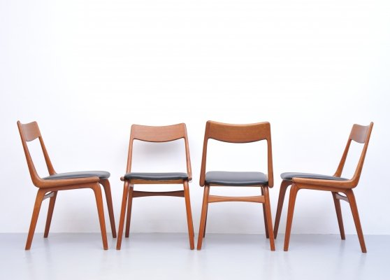 Set of 4 dining chairs by Alfred Christensen for Slagelse Møbelværk, 1970s
