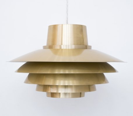 Brassed Verona Pendant Light by Svend Middelboe for Nordisk Solar, 1960s
