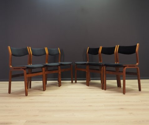 Set of 6 Danish dining chairs, 1960s