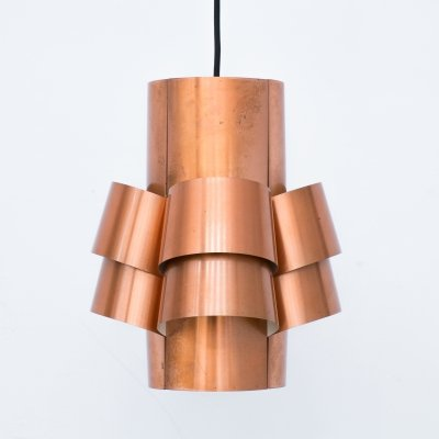 Pendant lamp in brass by Hans Agne Jakobsson for AB Markaryd, 1960s