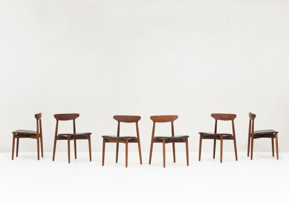 Set of 6 dining chairs by Harry Østergaard for Randers Møbelfabrik, Denmark 1960