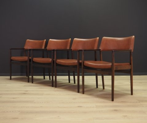Set of 4 arm chairs by Erik Wørts for Sorø Stolefabrik, 1960s