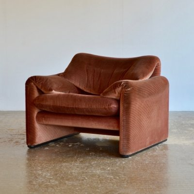 Maralunga lounge chair by Vico Magistretti for Cassina, 1970s