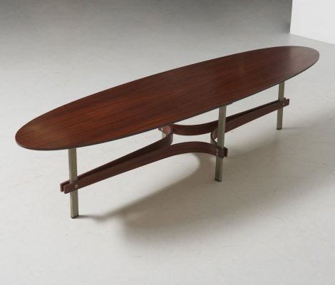Elliptical low table, 1960s
