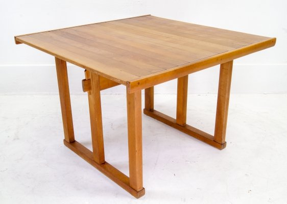 Danish Teak Deployable Side Table