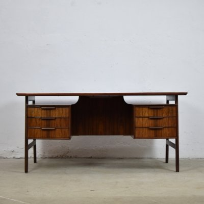 Rosewood Model 75 desk by Gunni Omann for Omann Jun Mobelfabrik, Denmark 1960's