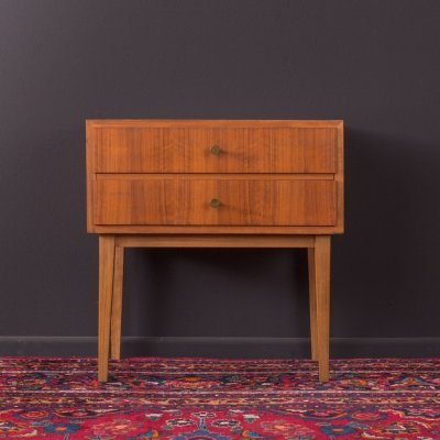 Walnut bedside table, Germany 1960s