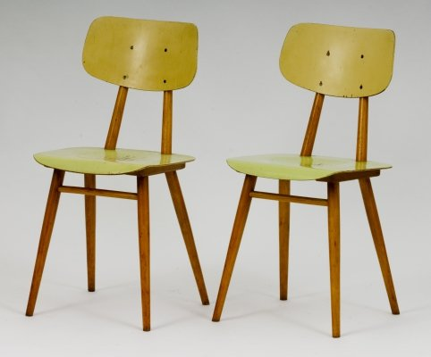 Pair of TON dining chairs, 1960s