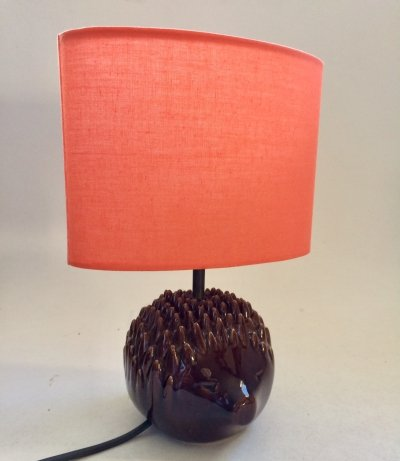 Ceramic Hedgehog Desk Table Lamp, 1970s