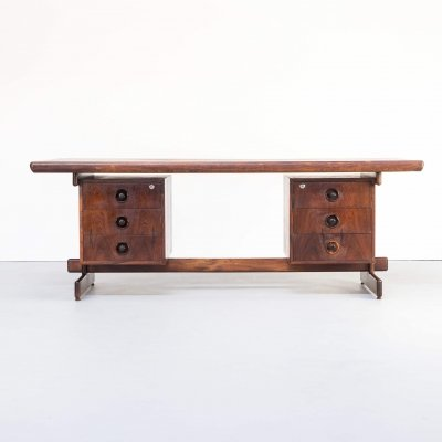 60s Presidential executive rosewood office desk