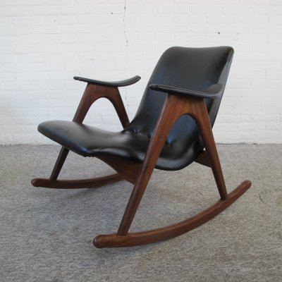Rocking chair by Louis van Teeffelen for Wébé, 1950s