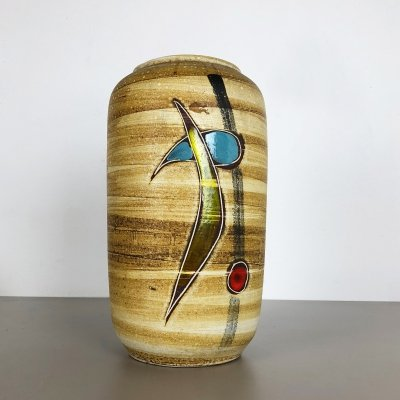 Large Pottery Fat Lava Multicolor 546-40 Vase Made by Scheurich, 1960s
