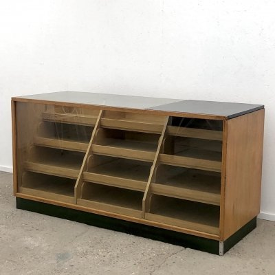 Vintage oak counter, 1950s