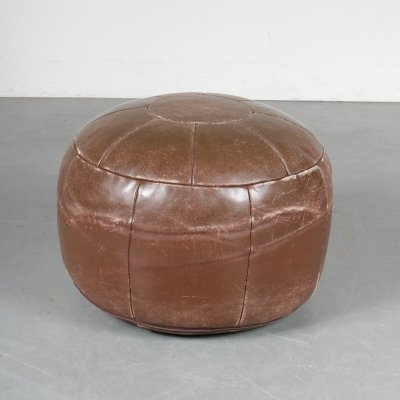 1960s Leather pouf