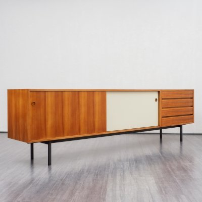 Large midcentury walnut sideboard by Walter Wirz for Wilhelm Renz, 1960s