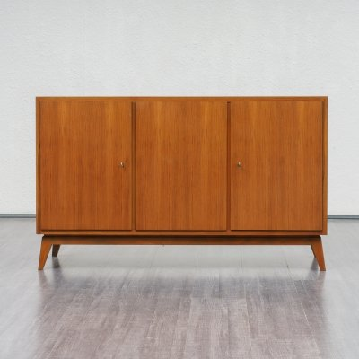 Cubical Mid Century Walnut Sideboard by Erwin Behr, Germany