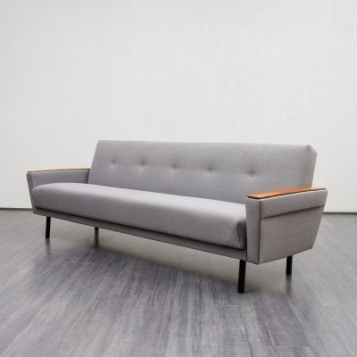 Large Mid Century Sofa With Fold Out Guest Bed, 1960s