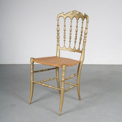 1970s Italian side chair manufactured by Chiavari in Italy