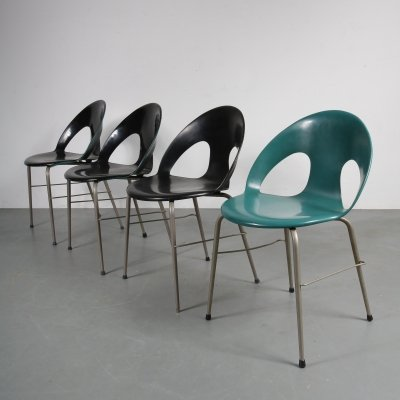 Danish side/dining chairs by Vermund Larsen for VL Møbler, 1950s