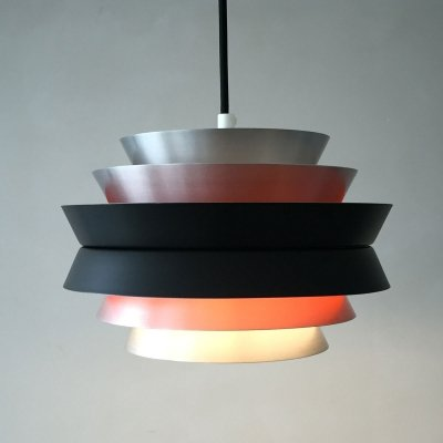 Swedish Trava hanging lamp Carl Thore for Granhaga, 1960s