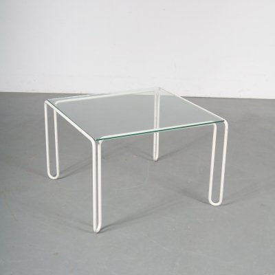 1970s Square metal coffee table