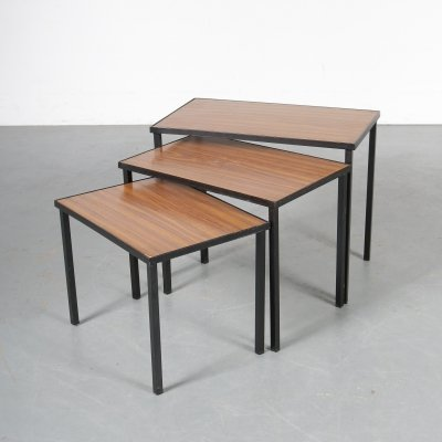 1950s Formica nesting tables manufactured in the Netherlands
