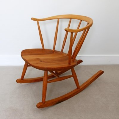Mid Century Cowhorn Rocking Chair by Ercol, 1960s