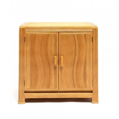French Mid-century split two doors Bamboo cabinet or commode, circa 1950