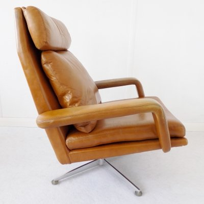 Leather Lounge chair by Hans Kaufeld, 1960s