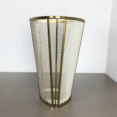 Original Mid-Century Modern French Brass Umbrella Stand, 1960s