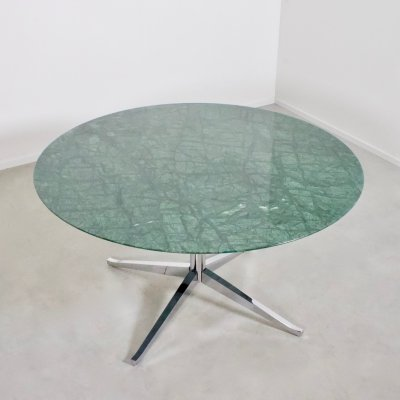 Florence Knoll Green Marble Dining Table for Knoll International, 1961