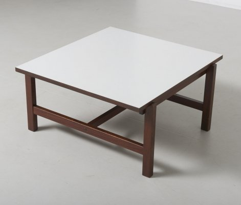 Teak coffee table with reversible white/teak top by Cees Braakman for Pastoe