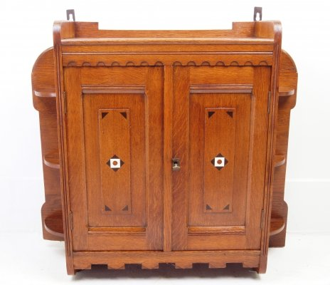 Teak provencial kitchen wall cabinet, 1930s