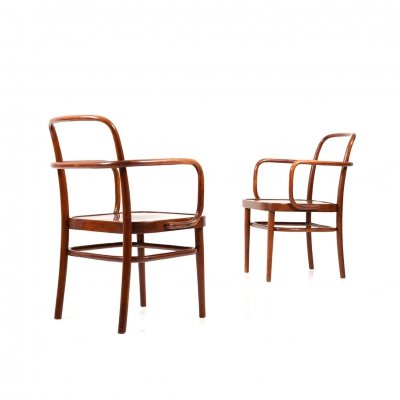 Pair of rare Chairs by Gustav Adolf Schneck for Thonet c.1925
