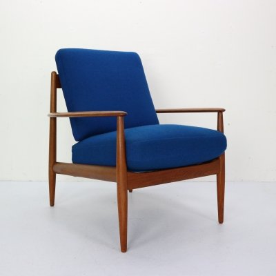 Midcentury Teak Lounge Chair by Grete Jalk for France & Son, 1960s