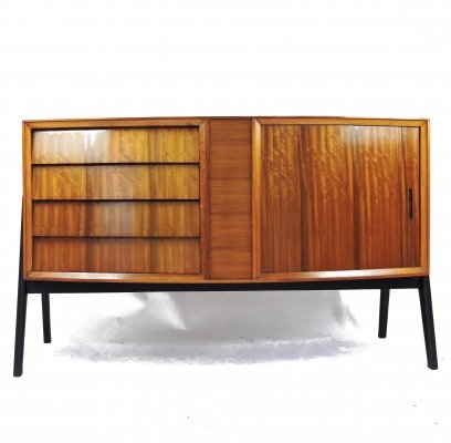 Mid-Century Tambour & 4 Drawer Sideboard, 1960s