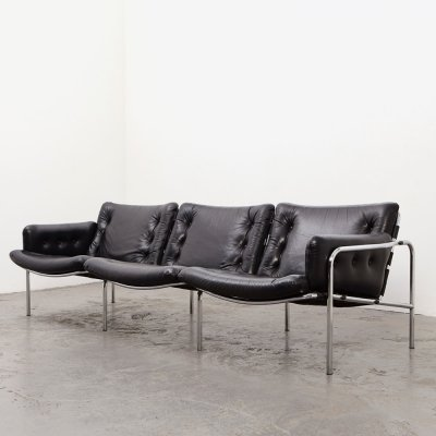 Martin Visser Osaka 3 Leather Sofa BZ12 for 't Spectrum, 1969