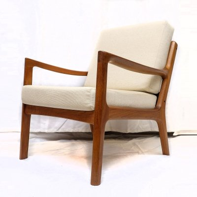 Teak Senator Lounge Chair by Ole Wanscher for Cado